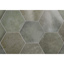 Lattialaatta Pukkila Hexagon Heritage Jungle, himmeä, sileä, 200x175mm