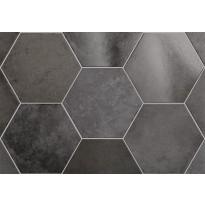 Lattialaatta Pukkila Hexagon Heritage Carbon, himmeä, sileä, 200x175mm