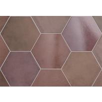 Lattialaatta Pukkila Hexagon Heritage Wine, himmeä, sileä, 200x175mm