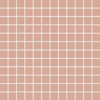 Mosaiikkilaatta Pukkila Mosaico Porcelanico Old Rose, himmeä, sileä, 25x25mm