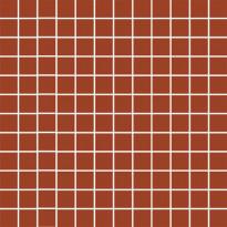 Mosaiikkilaatta Pukkila Mosaico Porcelanico Red, himmeä, sileä, 25x25mm