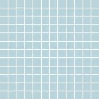 Mosaiikkilaatta Pukkila Mosaico Porcelanico Turquoise, himmeä, sileä, 25x25mm