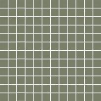 Mosaiikkilaatta Pukkila Mosaico Porcelanico Green, himmeä, sileä, 25x25mm