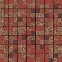 Mosaiikkilaatta Pukkila Mosaico Porcelanico Värimix 321-332-134-138, himmeä, sileä, 25x25mm