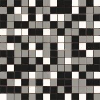 Mosaiikkilaatta Pukkila Mosaico Porcelanico Värimix 140-131-201, himmeä, sileä, 25x25mm
