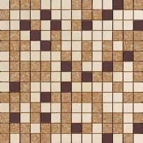 Mosaiikkilaatta Pukkila Mosaico Porcelanico Värimix 100-204-138, himmeä, sileä, 25x25mm