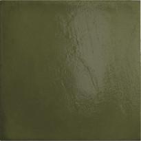 Seinälaatta Pukkila Habitat Olive, kiiltävä, sileä, 200x200mm