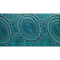 Kuviolaatta Pukkila Ophelia Hestia Petrol, kiiltävä, sileä, 447x247mm