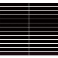 Mosaiikkilaatta Pukkila Bel Air Black, himmeä, sileä, 134x17mm