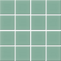 Mosaiikkilaatta Pukkila Nova Arquitectura Sea Green, himmeä, sileä, 47x47mm