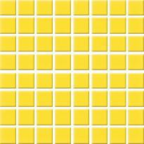 Mosaiikkilaatta Pukkila Nova Arquitectura Yellow, himmeä, sileä, 22x22mm
