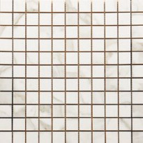 Mosaiikkilaatta Pukkila Luxury Calacatta Oro, kiiltävä, sileä, 30x30mm