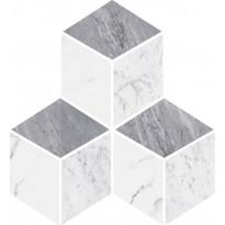 Mosaiikkilaatta Pukkila Luxury Grey 3D, kiiltävä, sileä, 255x290mm