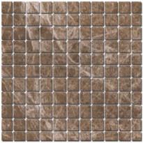 Mosaiikkilaatta Pukkila Luxury Emperador Light Ruskea, kiiltävä, sileä, 30x30mm