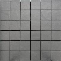 Mosaiikkilaatta Pukkila Kivi Dark Grey, himmeä, sileä, 53x53mm