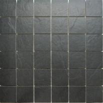 Mosaiikkilaatta Pukkila Kivi Antracite, himmeä, sileä, 53x53mm