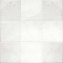 Lattialaatta Pukkila Landstone White, kuvioitu, himmeä, sileä, 97x97mm