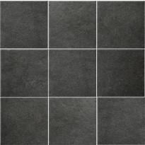Lattialaatta Pukkila Europe Black, himmeä, sileä, 97x97mm