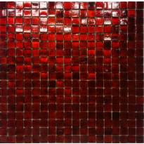 Mosaiikkilaatta Pukkila Lasi-luonnonkivimosaiikki San Marco Red, kiiltävä, sileä, 15x15mm