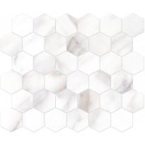 Mosaiikkilaatta Pukkila Bernini Stone Calacatta Oro, himmeä, sileä, 300x330mm