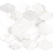 Mosaiikkilaatta Pukkila Bernini Stone Calacatta Oro, himmeä, sileä, 330x370mm