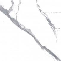 Lattialaatta Pukkila Luxury Stone Statuario Valkoinen, himmeä, sileä, 330x330mm