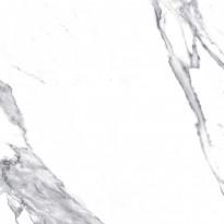 Lattialaatta Pukkila Luxury Stone Statuario Valkoinen, himmeä, sileä, 497x497mm