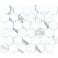 Mosaiikkilaatta Pukkila Bernini Stone Statuario, himmeä, sileä, 300x330mm