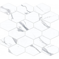 Mosaiikkilaatta Pukkila Bernini Stone Statuario, himmeä, sileä, 330x370mm