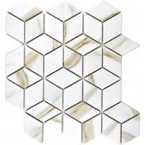 Mosaiikkilaatta Pukkila Lasitettu Mosaiikki mosaiikki Calacatta diamant, himmeä, karhea, 48x41mm