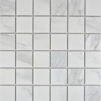 Mosaiikkilaatta Pukkila Carrara, himmeä, karhea, 48x48mm