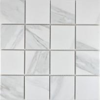 Mosaiikkilaatta Pukkila Carrara, himmeä, karhea, 73x73mm, Myyntierä 4,12², Verkkokaupan poistotuote