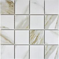 Mosaiikkilaatta Pukkila Calacatta, himmeä, karhea, 73x73mm