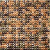 Mosaiikkilaatta Pukkila Pisara Ruskea Mix, kiiltävä, sileä, 11x11mm