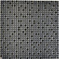 Mosaiikkilaatta Pukkila Cuba Black Mix, himmeä, sileä, 10x10mm
