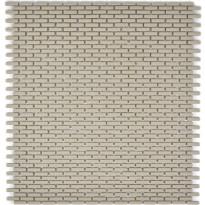 Mosaiikkilaatta Pukkila Cuba Cream Brick, himmeä, sileä, 20x5mm