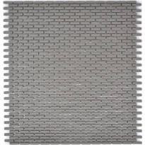 Mosaiikkilaatta Pukkila Cuba Greybraun Brick, himmeä, sileä, 20x5mm