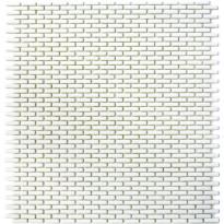 Mosaiikkilaatta Pukkila Cuba White Brick, himmeä, sileä, 20x5mm