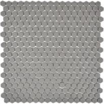 Mosaiikkilaatta Pukkila Cuba Greybraun, 6-kulmainen, himmeä, sileä, 15x15mm
