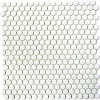 Mosaiikkilaatta Pukkila Cuba White, 6-kulmainen, himmeä, sileä, 15x15mm
