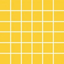 Mosaiikkilaatta Pukkila Pro Technic Color Yellow, kiiltävä, sileä, 47x47mm