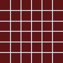 Mosaiikkilaatta Pukkila Pro Technic Color Burgundy, kiiltävä, sileä, 47x47mm