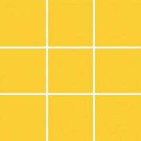 Lattialaatta Pukkila Pro Technic Color Yellow, kiiltävä, sileä, 97x97mm