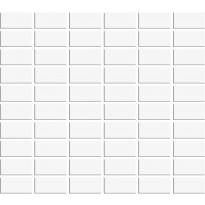 Mosaiikkilaatta Pukkila Miniworx White, himmeä, sileä, 50x25mm