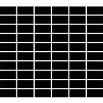 Mosaiikkilaatta Pukkila Miniworx Black, himmeä, sileä, 50x25mm