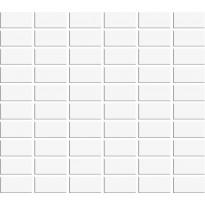 Mosaiikkilaatta Pukkila Miniworx White, kiiltävä, sileä, 50x25mm