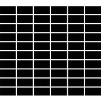 Mosaiikkilaatta Pukkila Miniworx Black, kiiltävä, sileä, 50x25mm