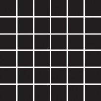 Mosaiikkilaatta Pukkila Pro Technic Color Black, himmeä, karhea, 47x47mm