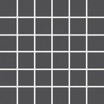 Mosaiikkilaatta Pukkila Pro Technic Color Anthracite, himmeä, sileä, 47x47mm