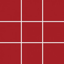 Lattialaatta Pukkila Pro Technic Color Red, kiiltävä, sileä, 97x97mm